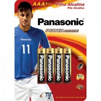 Pilha Alcalina AAA LR03XAB/4B1 (Cartela c/ 4 unid.) PANASONIC - CXM / 192
