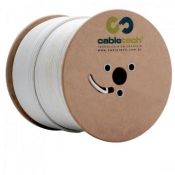Cabo Coaxial RG6 60 BR BOBINA CABLETECH - BOB / 305
