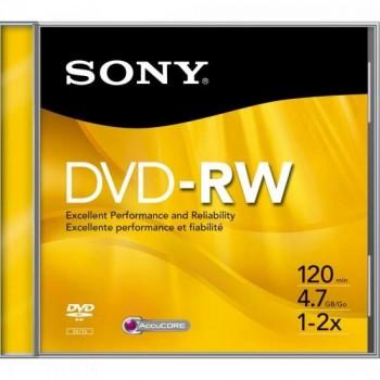 DVD-RW Slim Case 120 min 4.7GB 16x DMWE47SS SONY - DEZ / 10