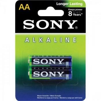 Pilha Alcalina AA AM3L-B2D Sony Caixa c/24 pilhas (cartela c/2) - BLI / 24
