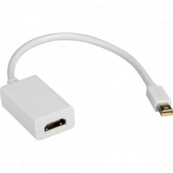 Adaptador Display Mini Portátil Para HDMI 15cm ADAP0041 Branco STORM