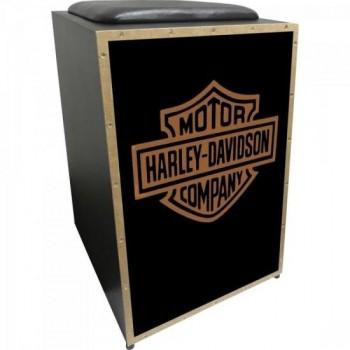 Cajon Acústico Inclinado Profissional K2 COR-007 Harley Davidson JAGUAR