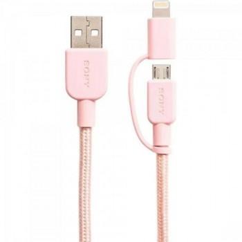 Cabo USB/Mini C/Lightning CP-ABLP150P Rosa SONY