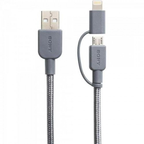 Cabo USB/Mini C/Lightning CP-ABLP150H Cinza SONY