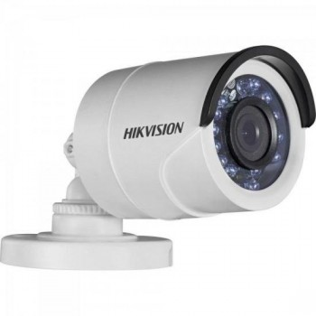 Camera Bullet HD 3.0P 1MP 20M 3.6mm DS-2CE16C0T-IRP Branca HIKVISION