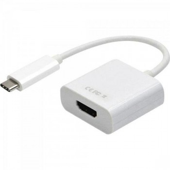 Cabo Adaptador USB Tipo C Macho Para HDMI Femea ADAP0056 Branca STORM