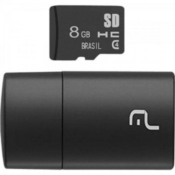 Leitor USB com Cartao SD 8GB MULTILASER