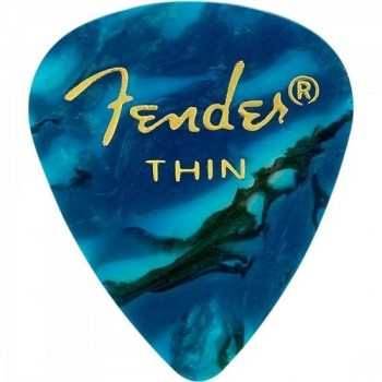 Palheta Celulóide Shape Premium 351 Thin Ocean Turquoise FENDER - PCT / 144