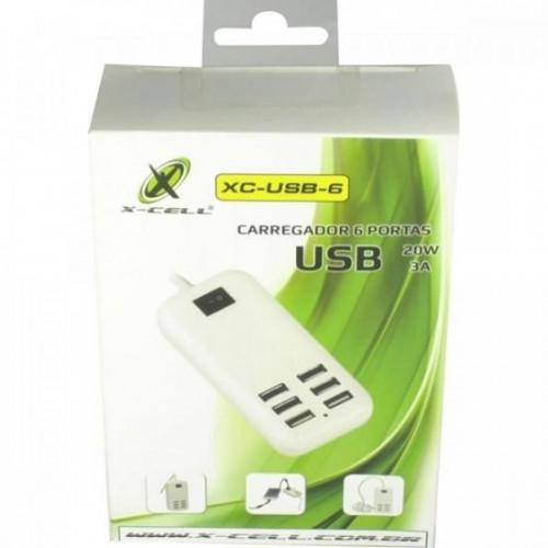 Carregador 6 USB XC-USB-6 X-CELL