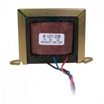 Transformador 24+24VAC 127/220VAC 500mA 24/2 HAYONIK